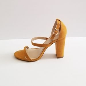 Forever 21 Suede Sandals Yellow Size 9